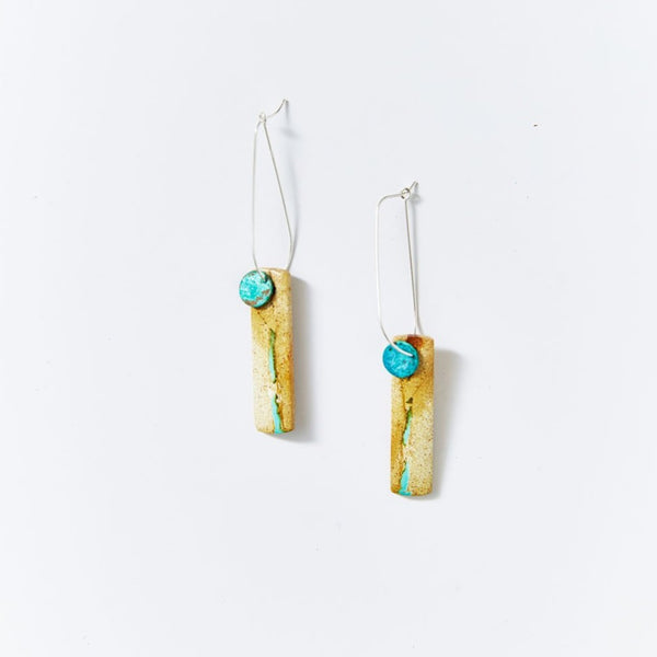 OOAK Natural Turquoise Earrings RT3