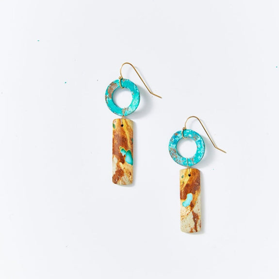 OOAK Natural Turquoise Earrings RT8