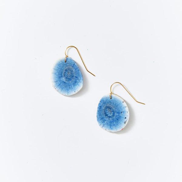 OOAK Blue Sponge Coral Earrings