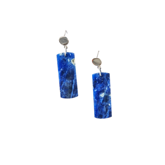 Snow Mountain Blue Earrings