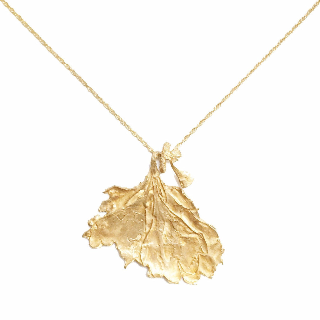Handmade Botanical Leaf Necklace