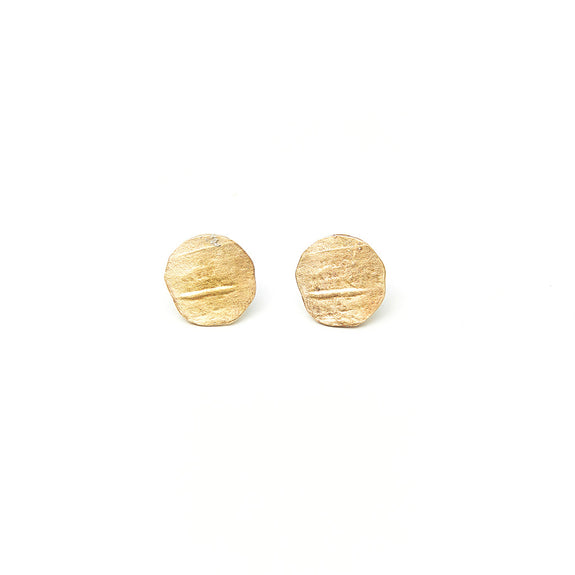 Circle Birch Stud Earrings