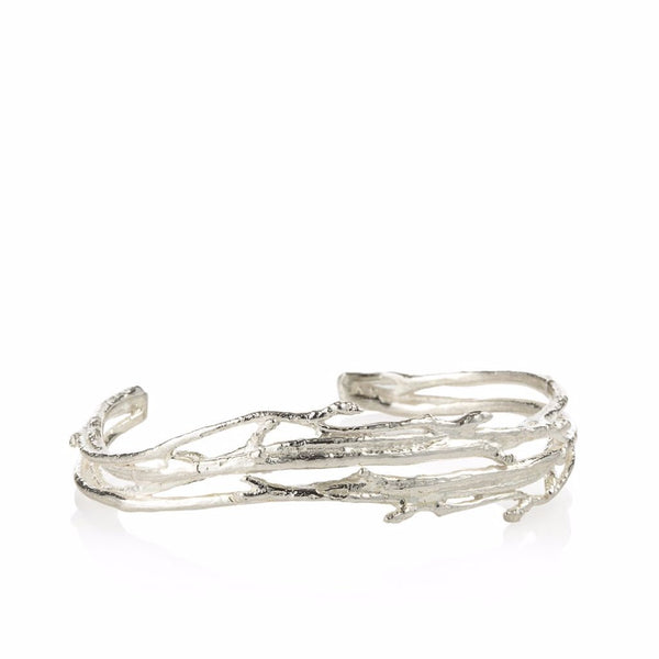 Sterling Silver Budding Branch Bracelet