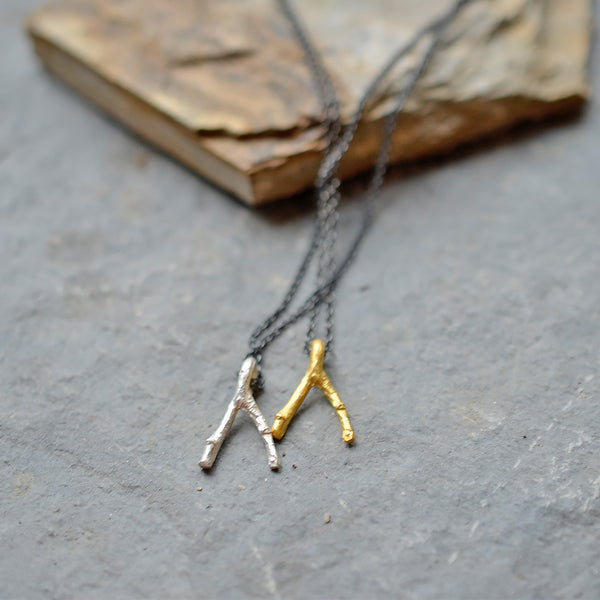 Wishbone Twig Necklace