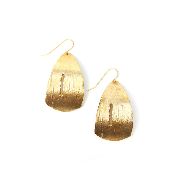 Golden Birch Dangle Earrings