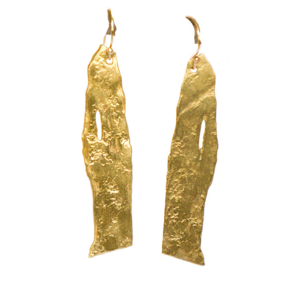 Gold Handmade Birch Earrings