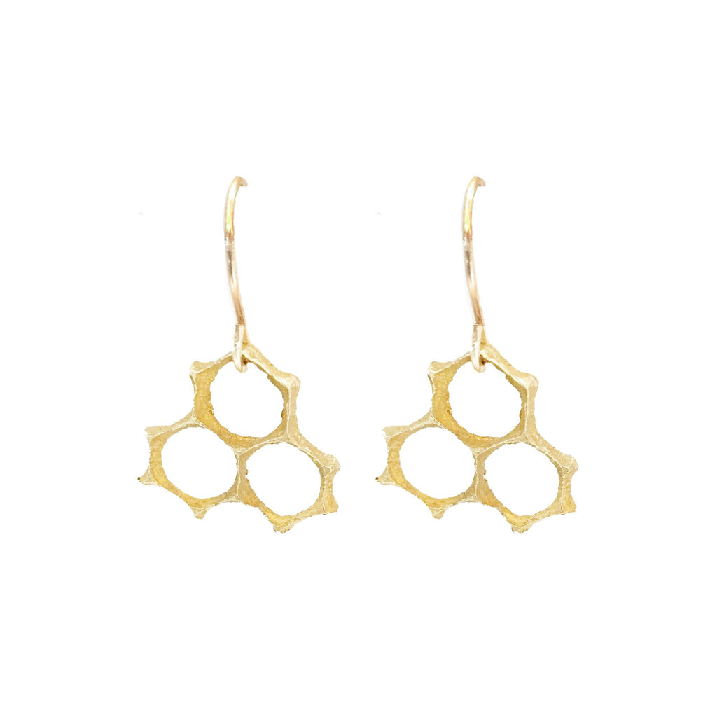 Small Honeycomb Handmade Earrings