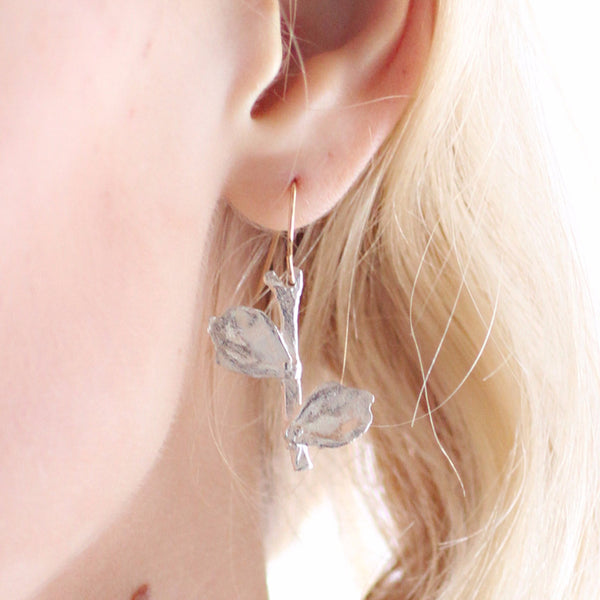 Handmade Blooming Leaf Earrings