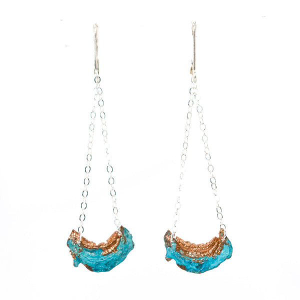Handmade Blue Moon Earrings
