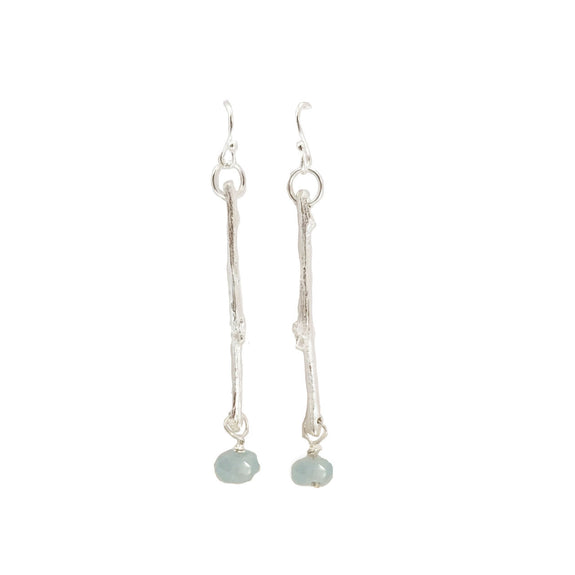 Twig & Aquamarine Earrings