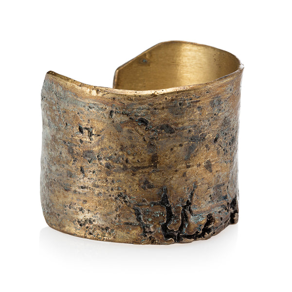 Oxidized Golden Birch Cuff