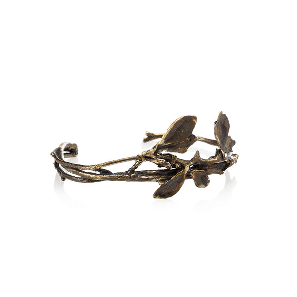 Oxidized Budding Floral Bracelet