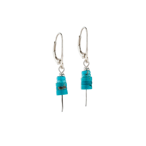Stacked Turquoise Earrings