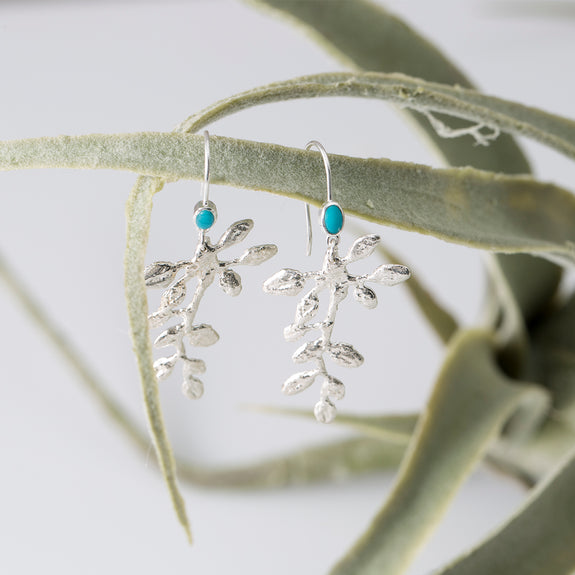 Turquoise Vine Earrings