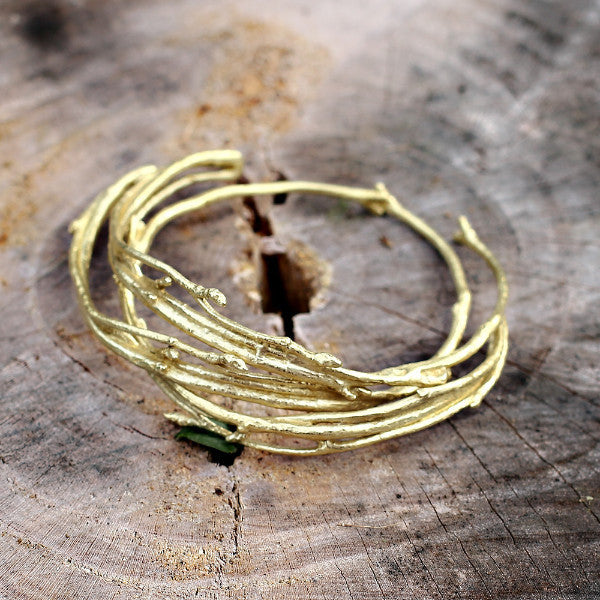 Thin Budding Branch Bracelet