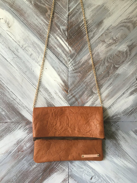 Kennedy Clutch in Caramel Brown