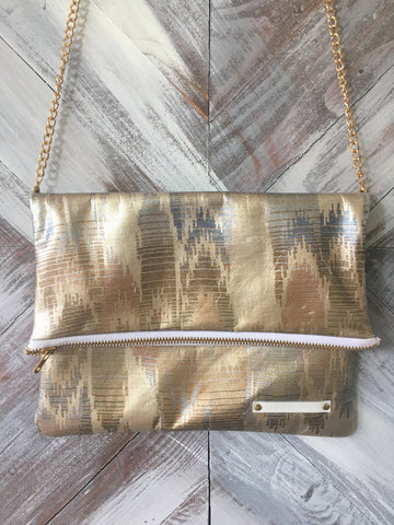 Kennedy Clutch in Gold