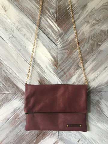 Kennedy Clutch in Maroon