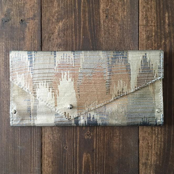 Gold & Silver Leather Wallet