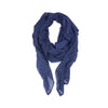 Enji Navy Cotton Scarf - renegades of chic