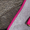 Grey Wool Duffle Bag w/ Pink Straps