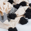 Black Tassel Throw