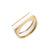 Brass/Perspex Stacking Rings in White