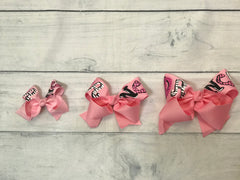 Hand Painted Bows-Pink DANCE