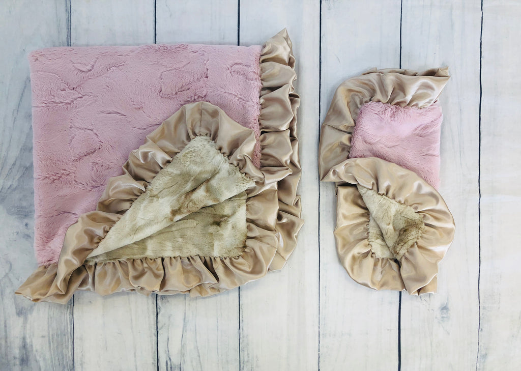 Luxe Rabbit Blush Blanket/Lovie