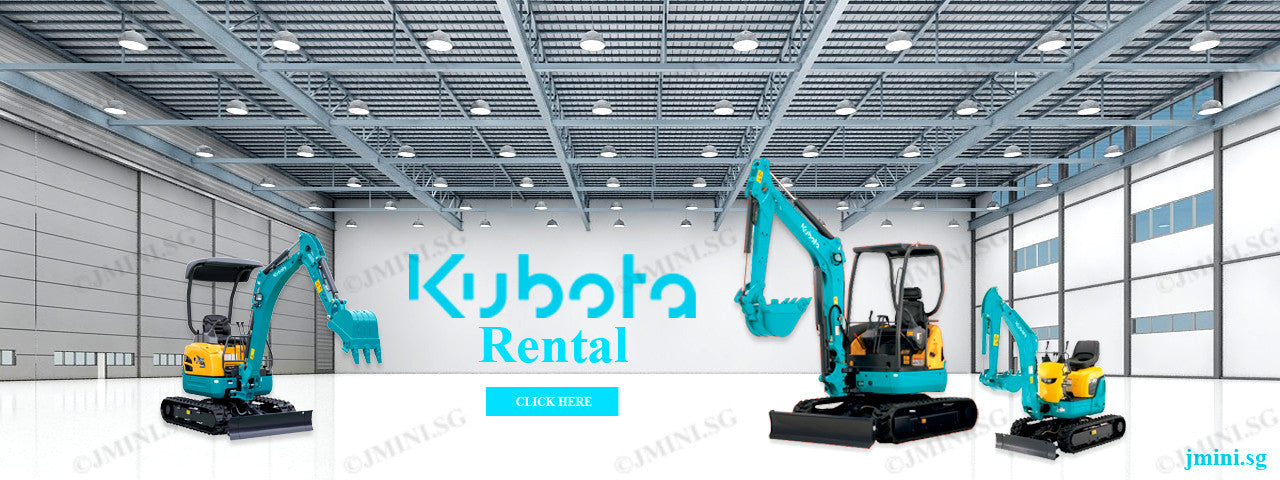Kubota mini excavator for rent in Singapore