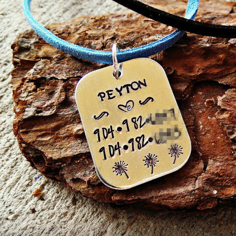 Kids Allergy, Medical, Safety, Travel Necklace