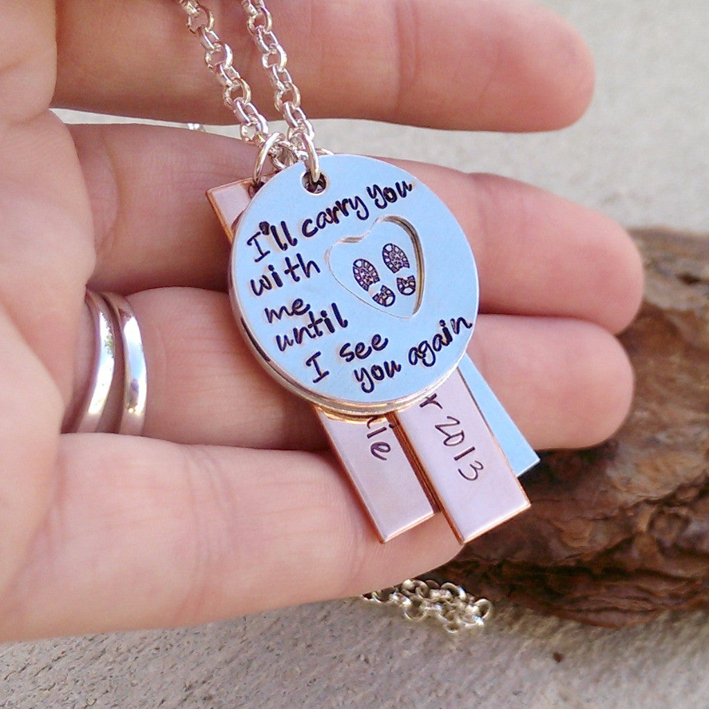 I'll Carry You With Me Deployment Necklace