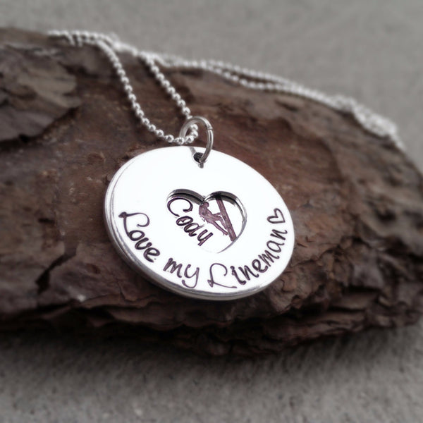 Lineman Love Heart Necklace