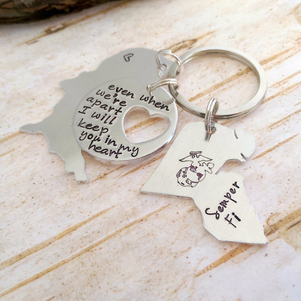 Keep You in My Heart Deployment Keychain