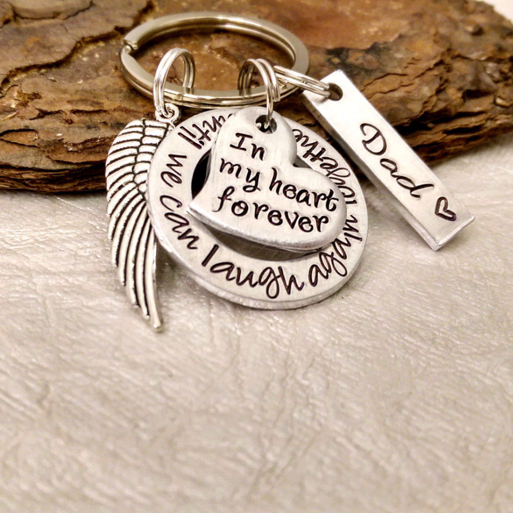 In My Heart Forever Memorial Keychain