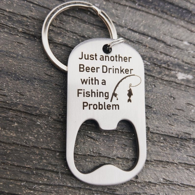 Fishing Problem Bottle Opener Keychain