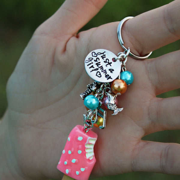Just a Summer Girl Keychain