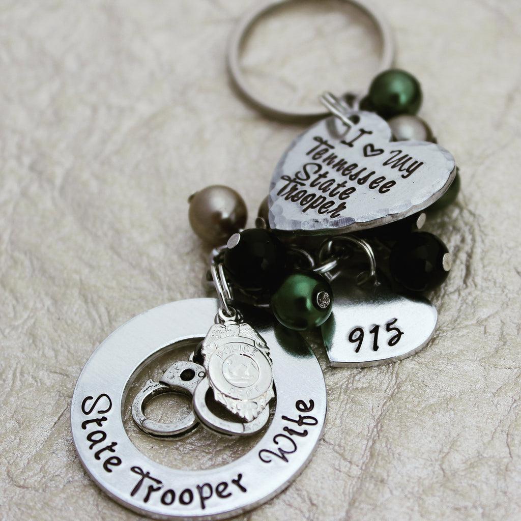State Trooper Wife Keychain