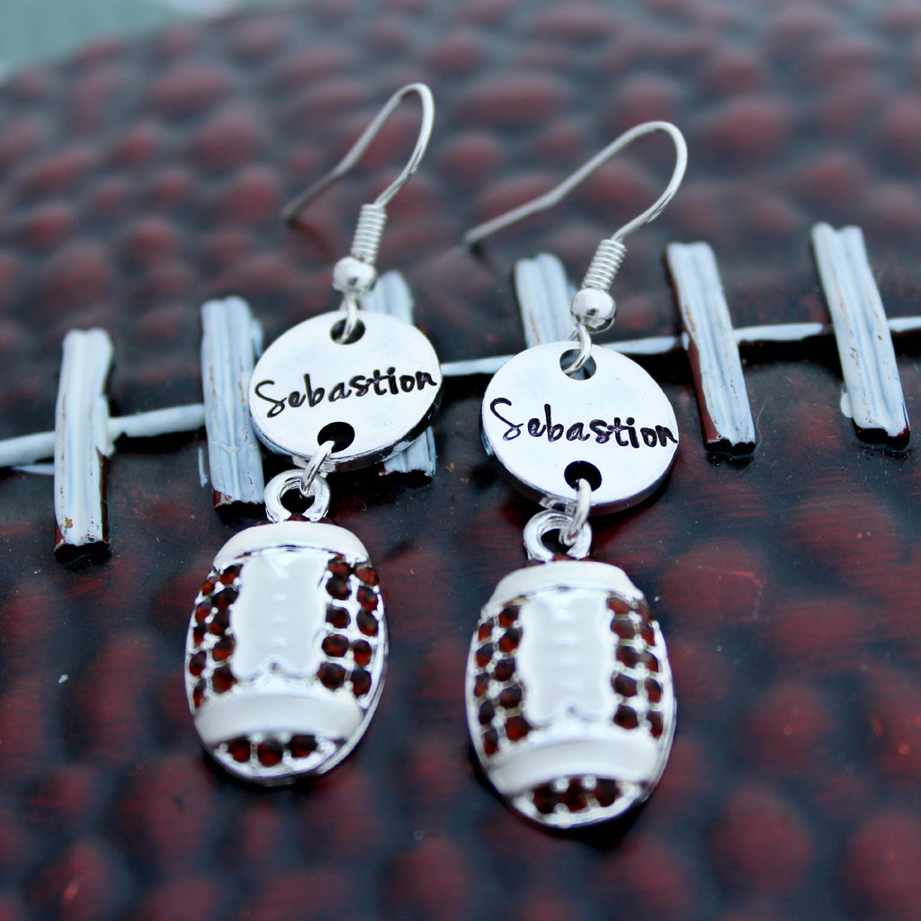 Personalized Football Earrings