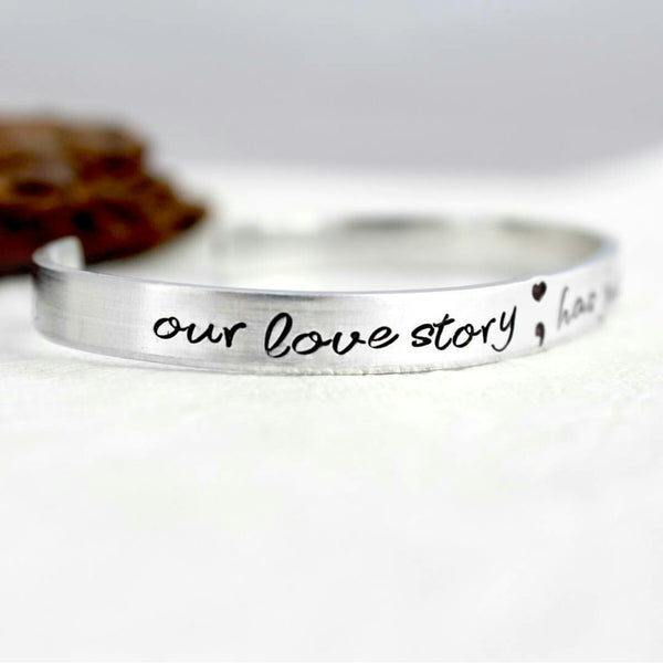 Our Love Story has just Begun Wedding Day Bracelet