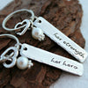 Her Strength Her Hero™ Mother and Daughter Tag Keychains