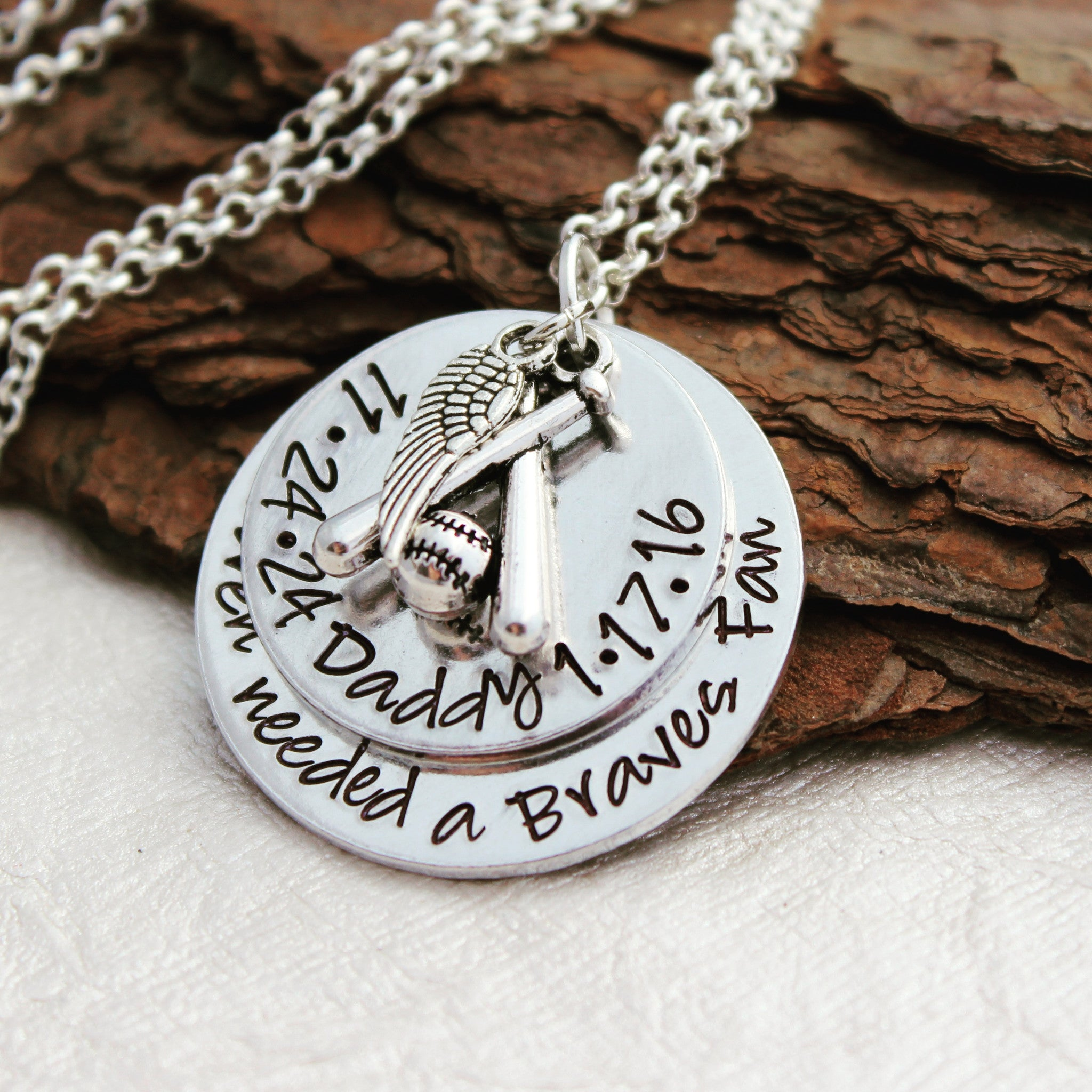 dad remembrance hand pin jewelry memorial stamped necklace sympathy