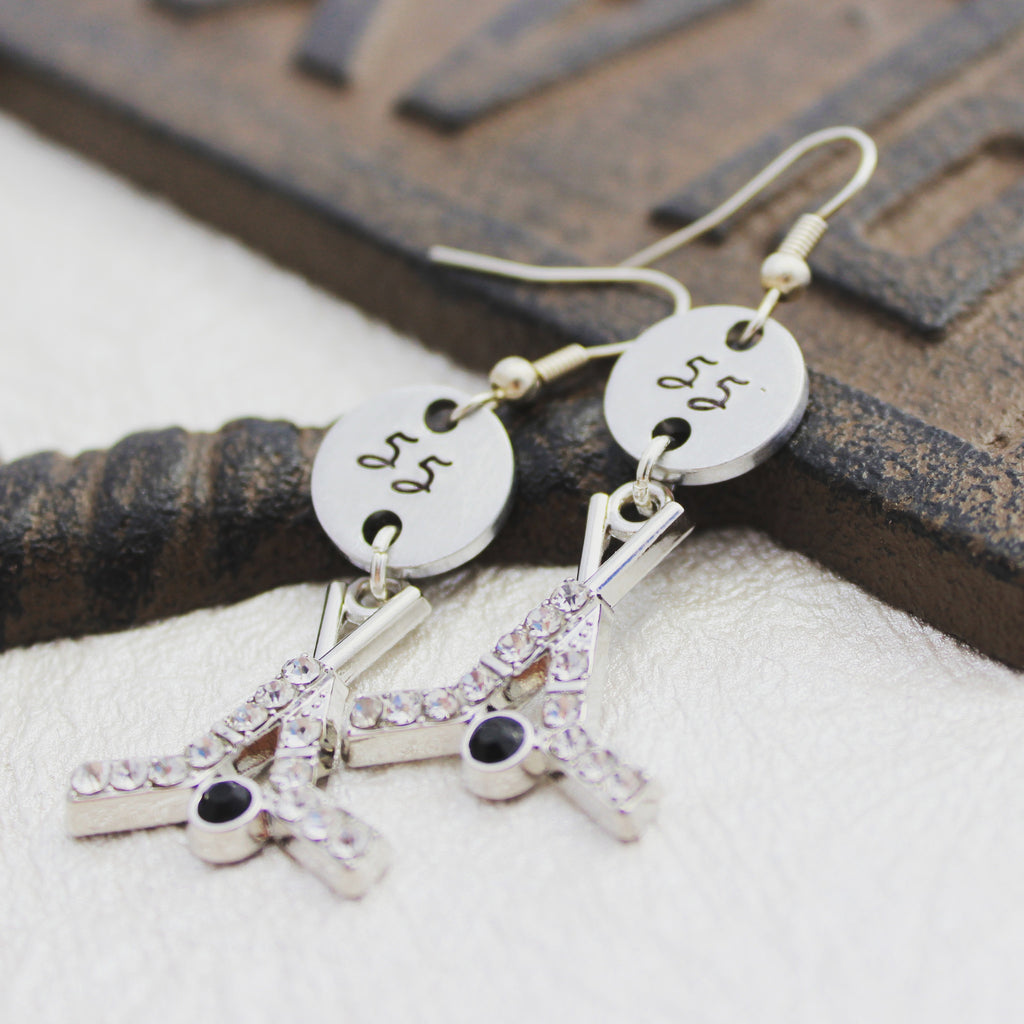Personalized Hockey Earrings