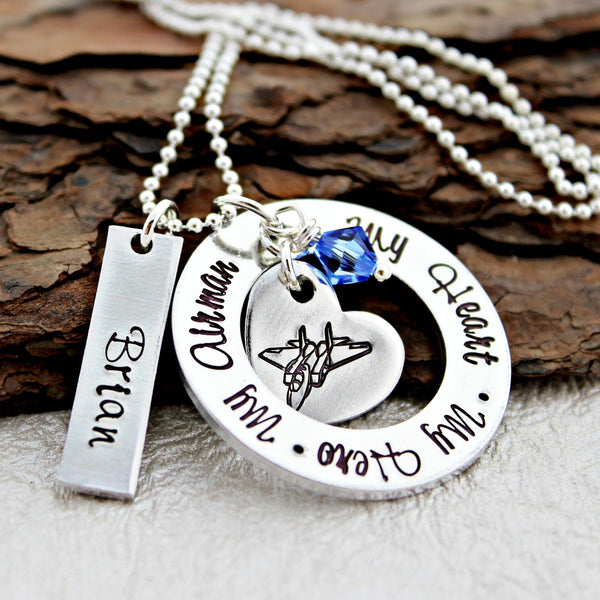 Air Force Wife Necklace