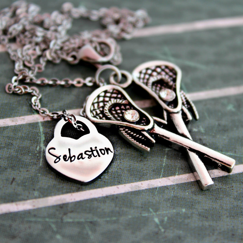 Personalized Lacrosse Necklace