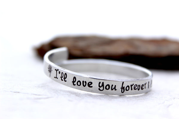 I'll love you forever & like you for always Mommy Bracelet