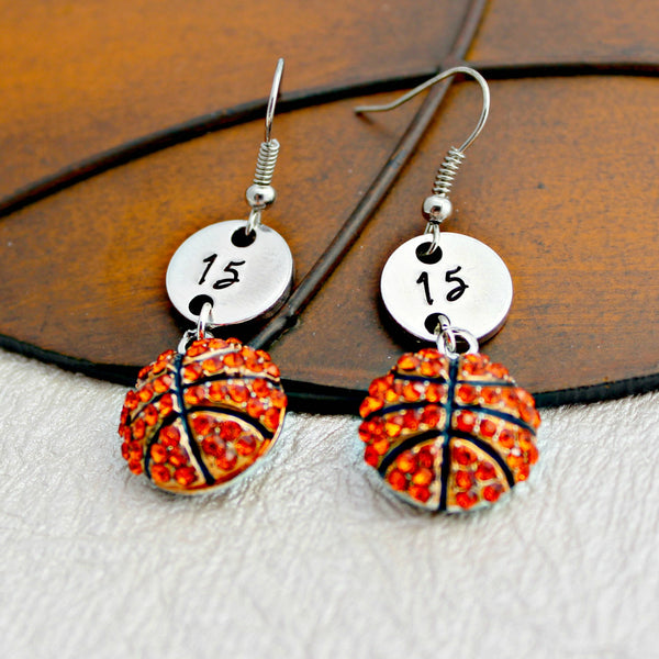 Personalized Basketball Earrings