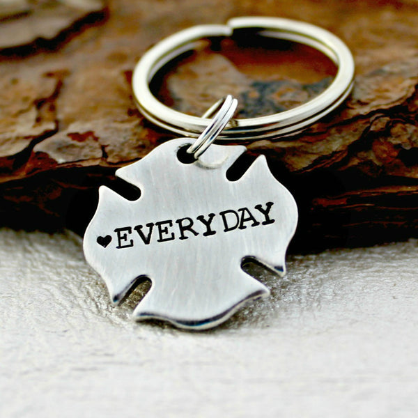 Firefighter Love Everyday Keychain