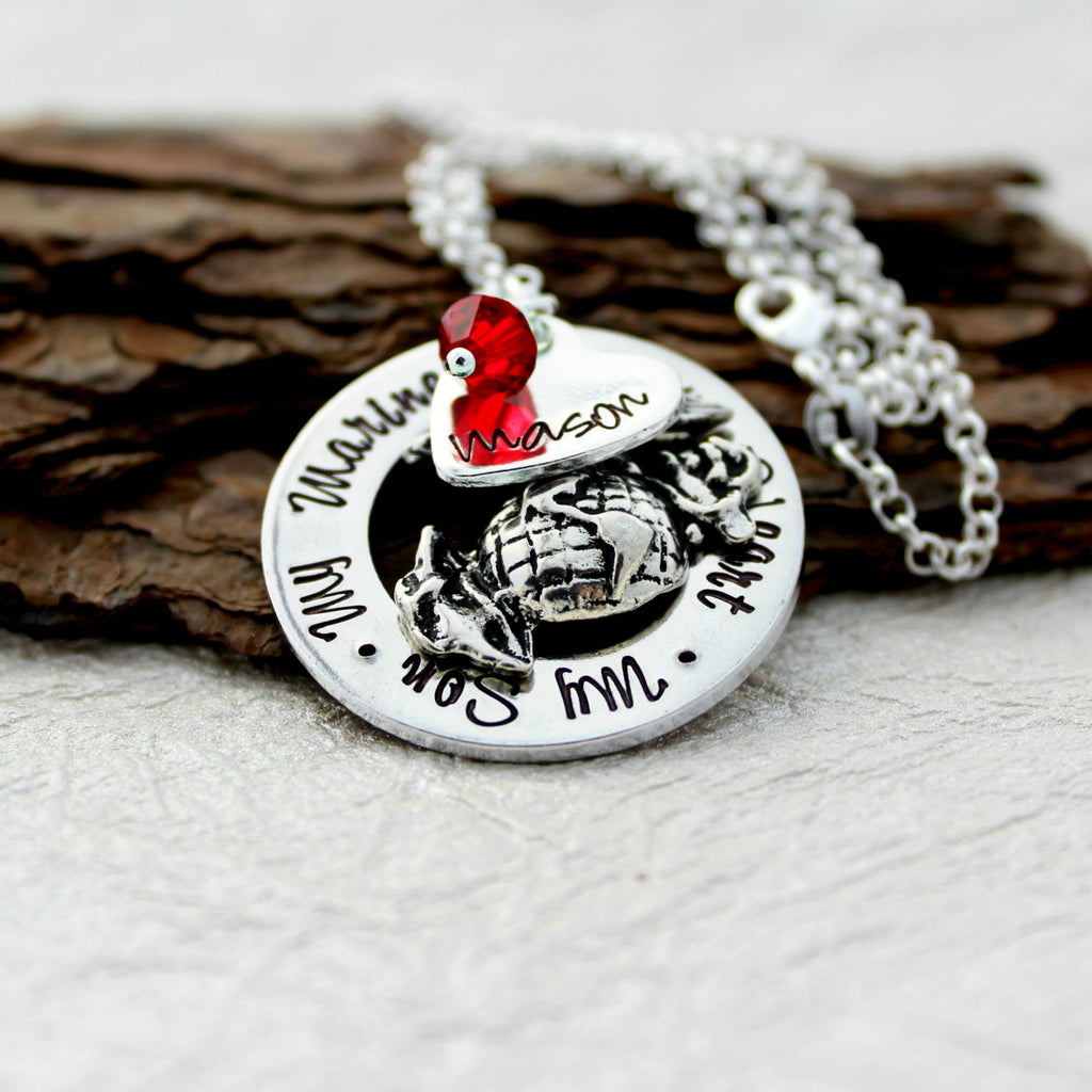 Marine Mom Necklace