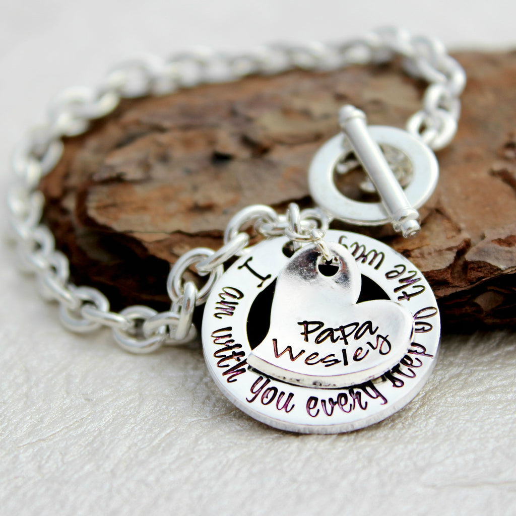 With You Every Step  - Memorial Bracelet